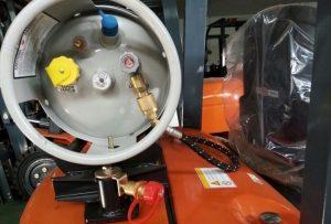 xe nâng chạy gas heli - bình gas