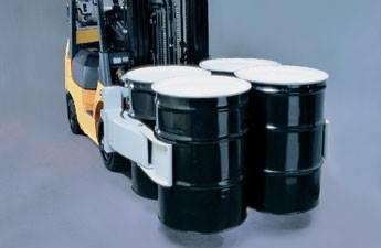 xe nâng kẹp thùng phuy heli
