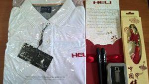 xe nâng heli gửi phần quà đến khách hàng