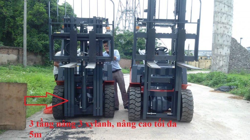 kết cấu khung nâng xe nâng hàng